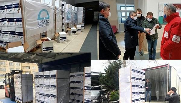 Irmak Okulları'ndan Kadıköy'deki ihtiyaç sahiplerine erzak desteği