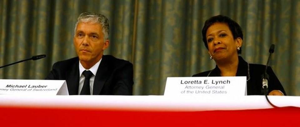 ABD Adalet Bakanı Loretta Lynch Zürih'te soruşturmanın genişletileceğini açıkladı.