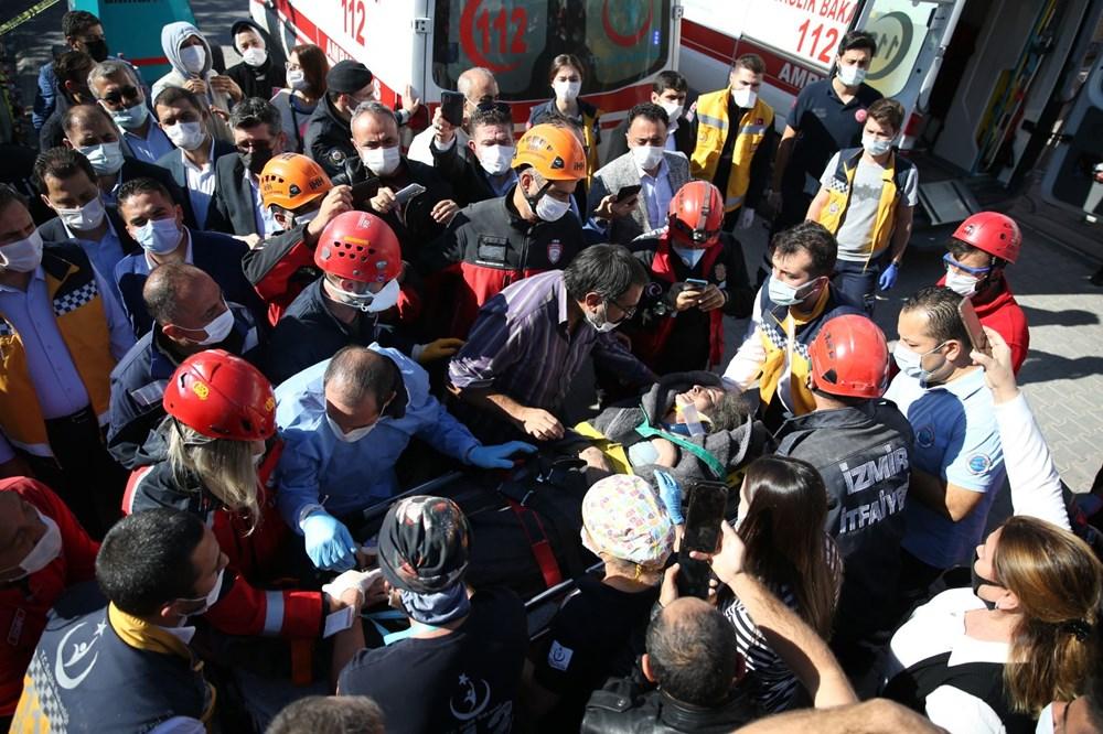 İzmir'de deprem sonrası enkaz altındakiler için zamana karşı yarış (58 saat sonra kurtarıldı) - 11