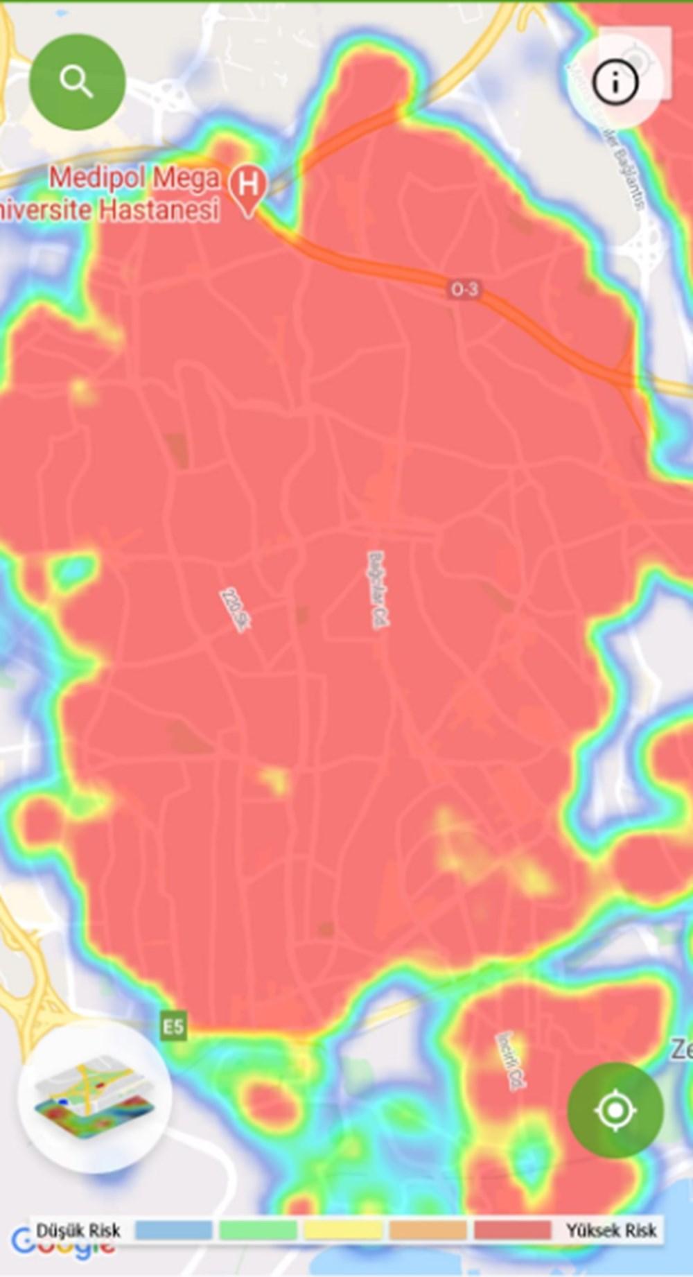 Corona haritası kızarıyor (İstanbul'un en güvenli ilçeleri) - 43