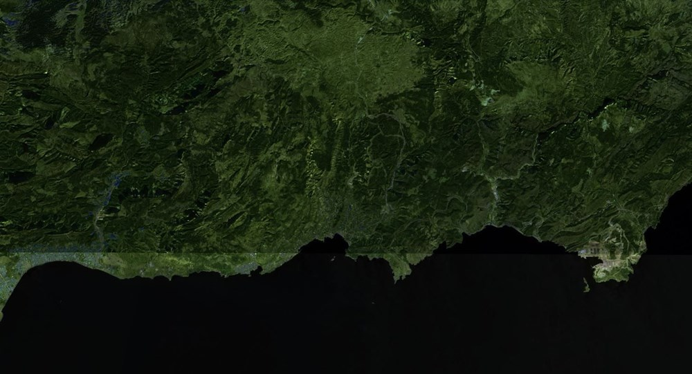 Orman yangınları uydudan böyle görüntülendi - 5