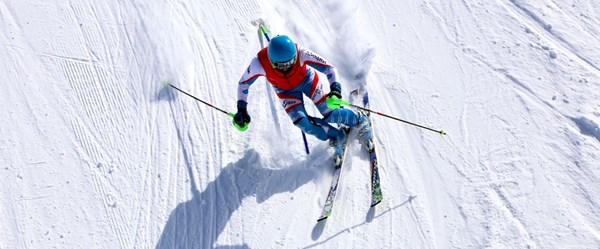 Palandöken'de ilkbaharda kayak keyfi