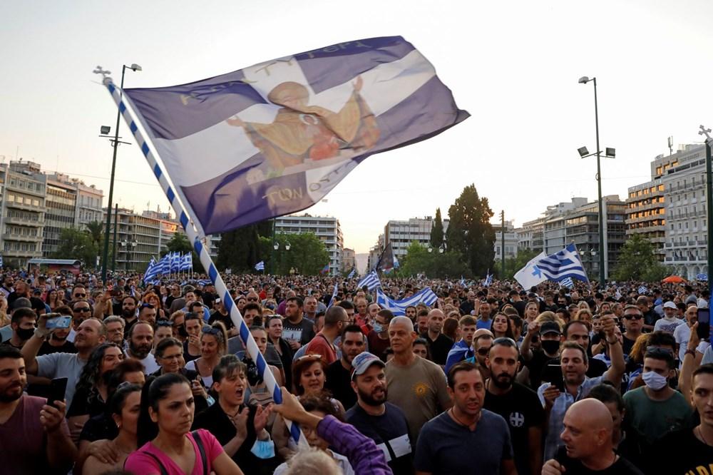 Atina'da aşı zorunluluğuna karşı düzenlenen protesto çatışmaya dönüştü: En az 25 gözaltı - 8
