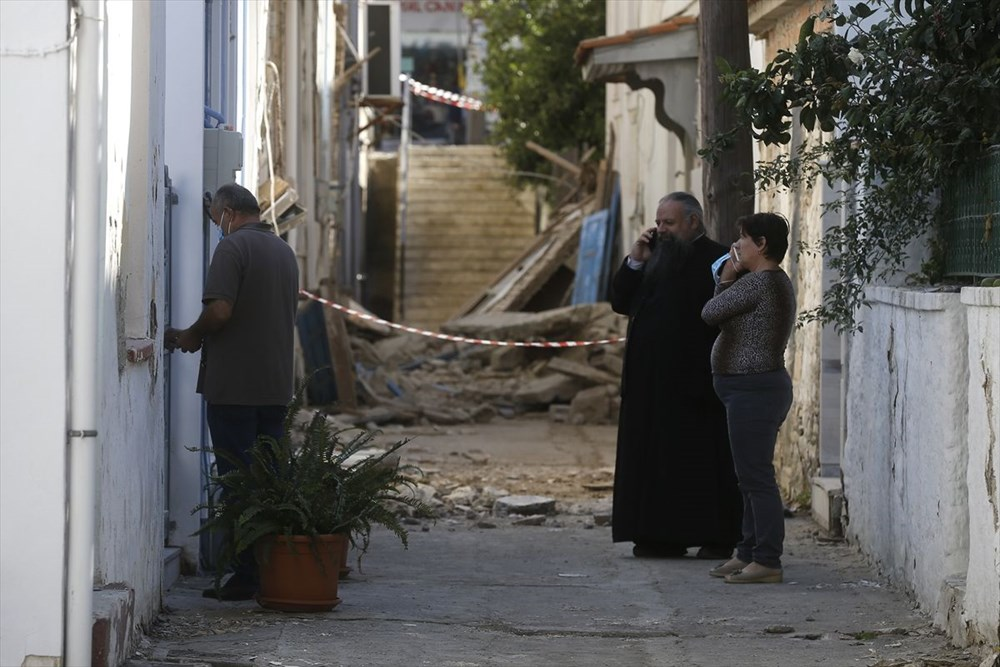 Depremin vurduğu Yunan adası Sisam'da son durum - 40