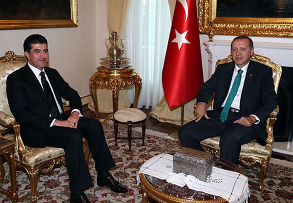 Barzani geçen hafta Ankara'da Başbakan Erdoğan ile görüşmüştü