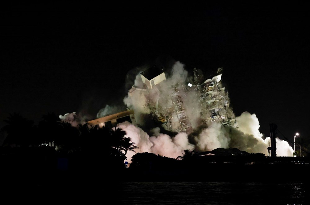The rest of the collapsed building in Miami was demolished - 2