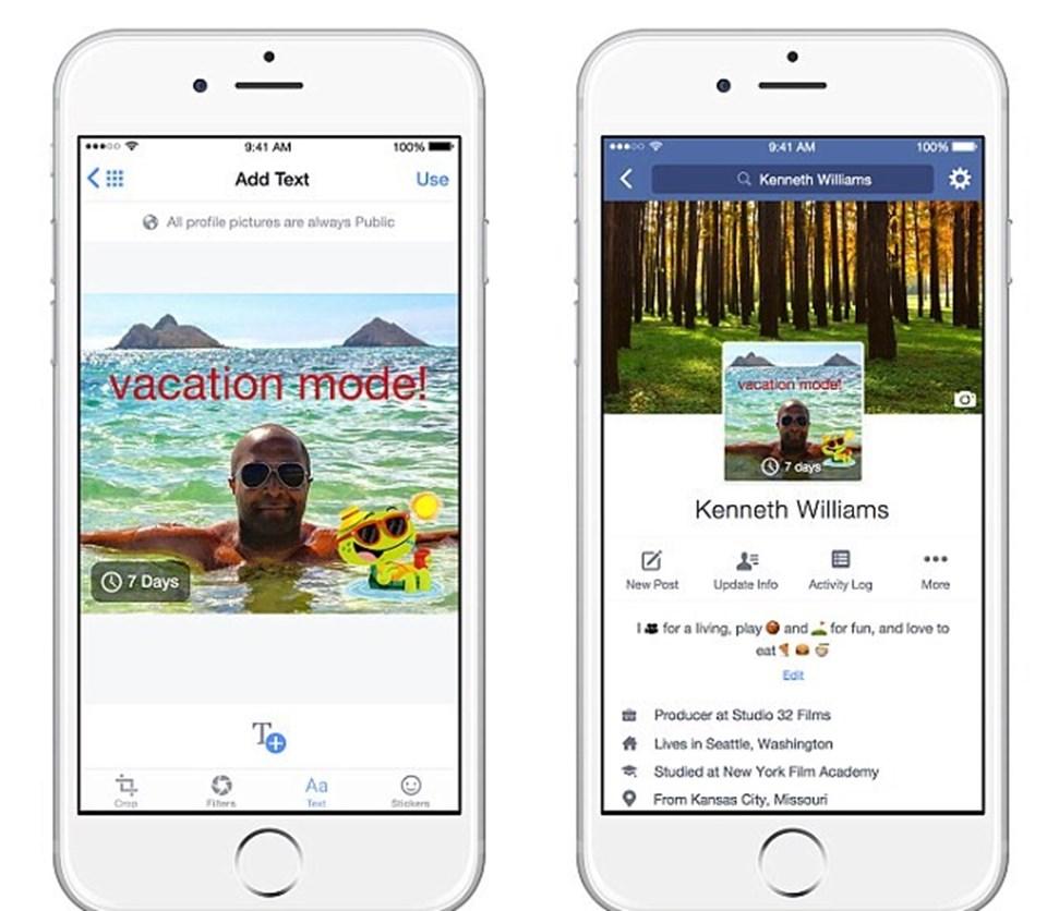 'vacation mode! (tatil modu) kullanıcıların belirli bir süre aralığına özel profil fotoğrafı belirlemesine imkan verecek.