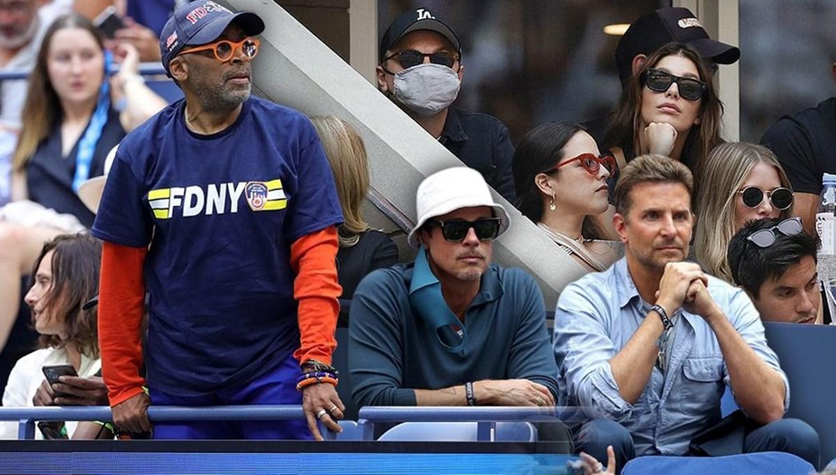 Brad Pitt ve Bradley Cooper tenis maçında