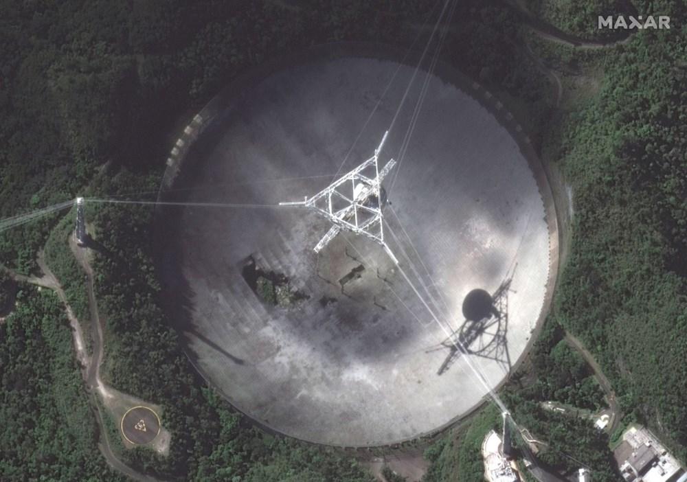 Porto Riko'daki Arecibo Gözlemevi çöktü - 6