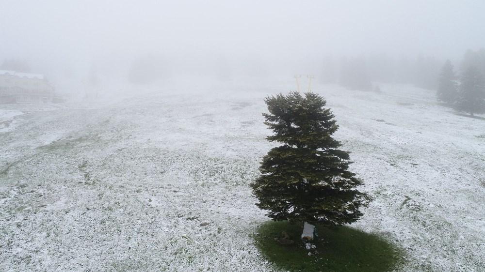 Geçen hafta 30 derece bugün kar - 7