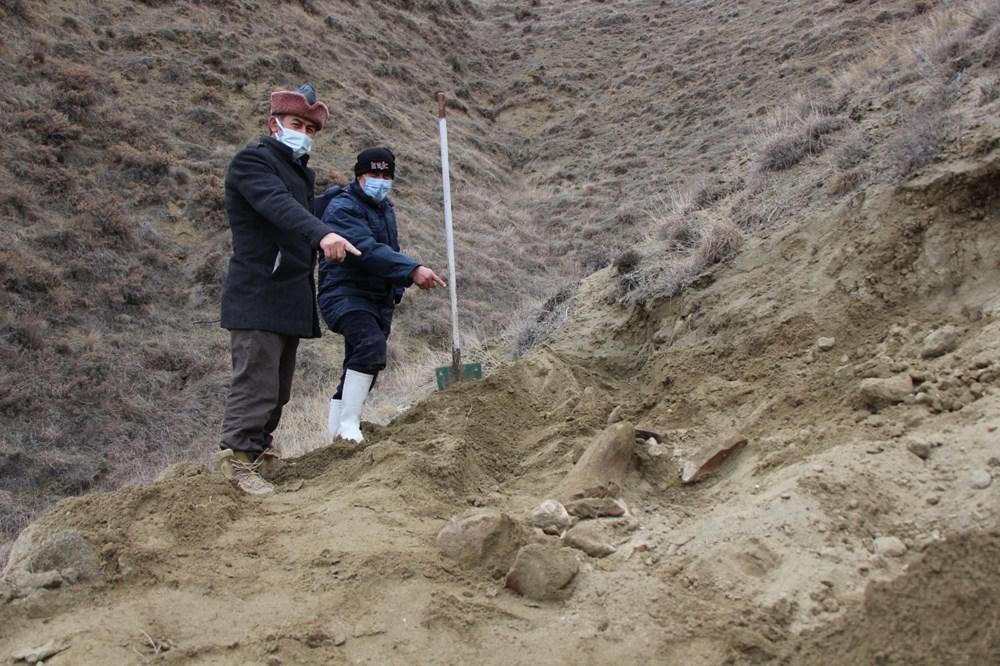 Amasya'da bulunan cisimler için mamut fosili heyecanı - 5