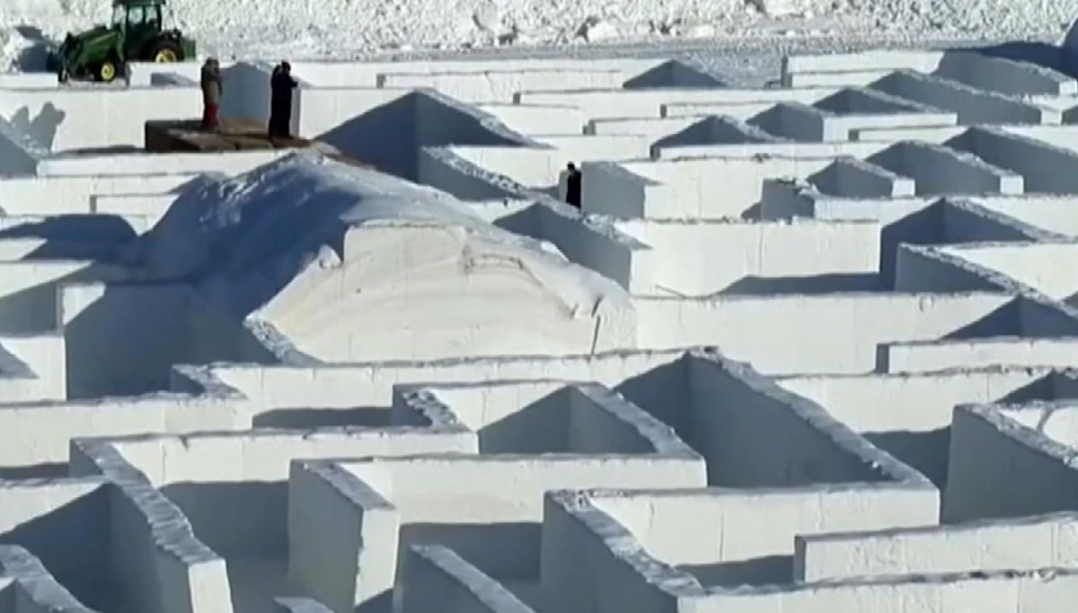 The influx of visitors to the world's largest snow maze in Canada