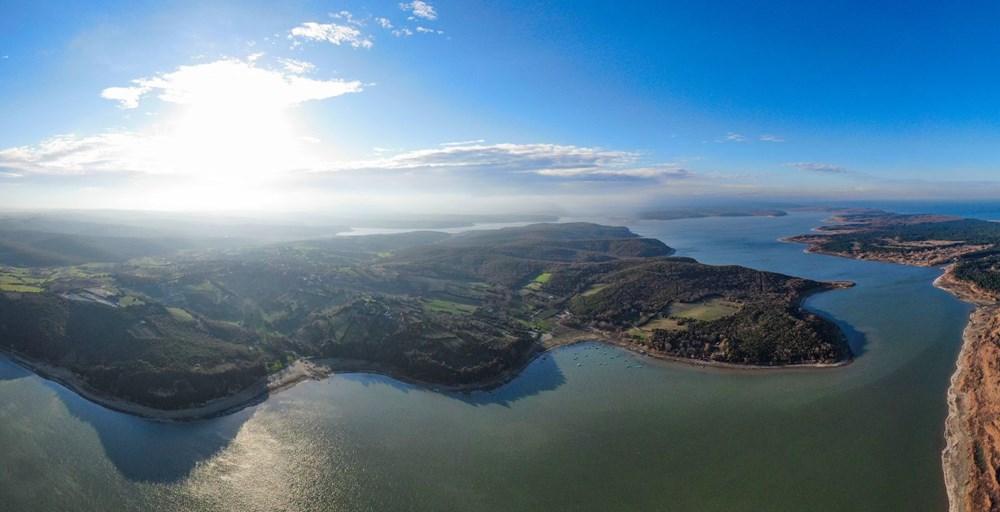 Terkos Gölü 100 metre çekildi, kirlilik ortaya çıktı - 9