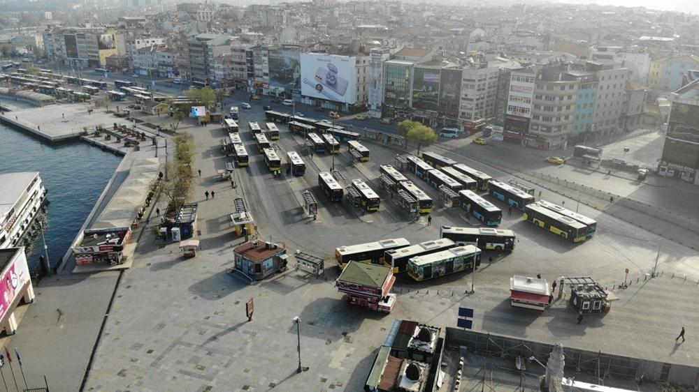 Tam kapanma sonrası Kadıköy ve Üsküdar'da meydanlar sessizliğe büründü - 3