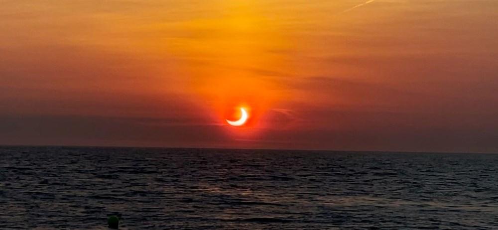 'Ateş Çemberi' Güneş Tutulması gerçekleşti - 9