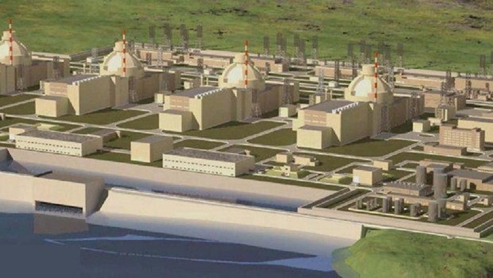 Nükleer santral tamamlandığında böyle olacak.