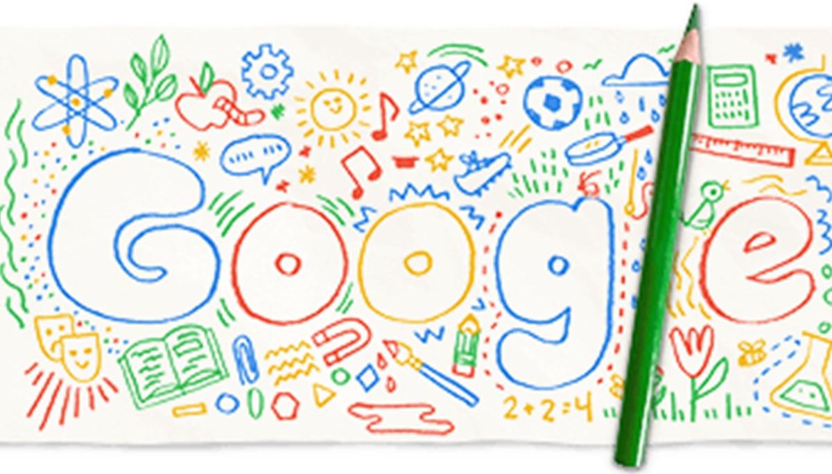 Google'dan 'Okulun ilk günü' Doodle'ı