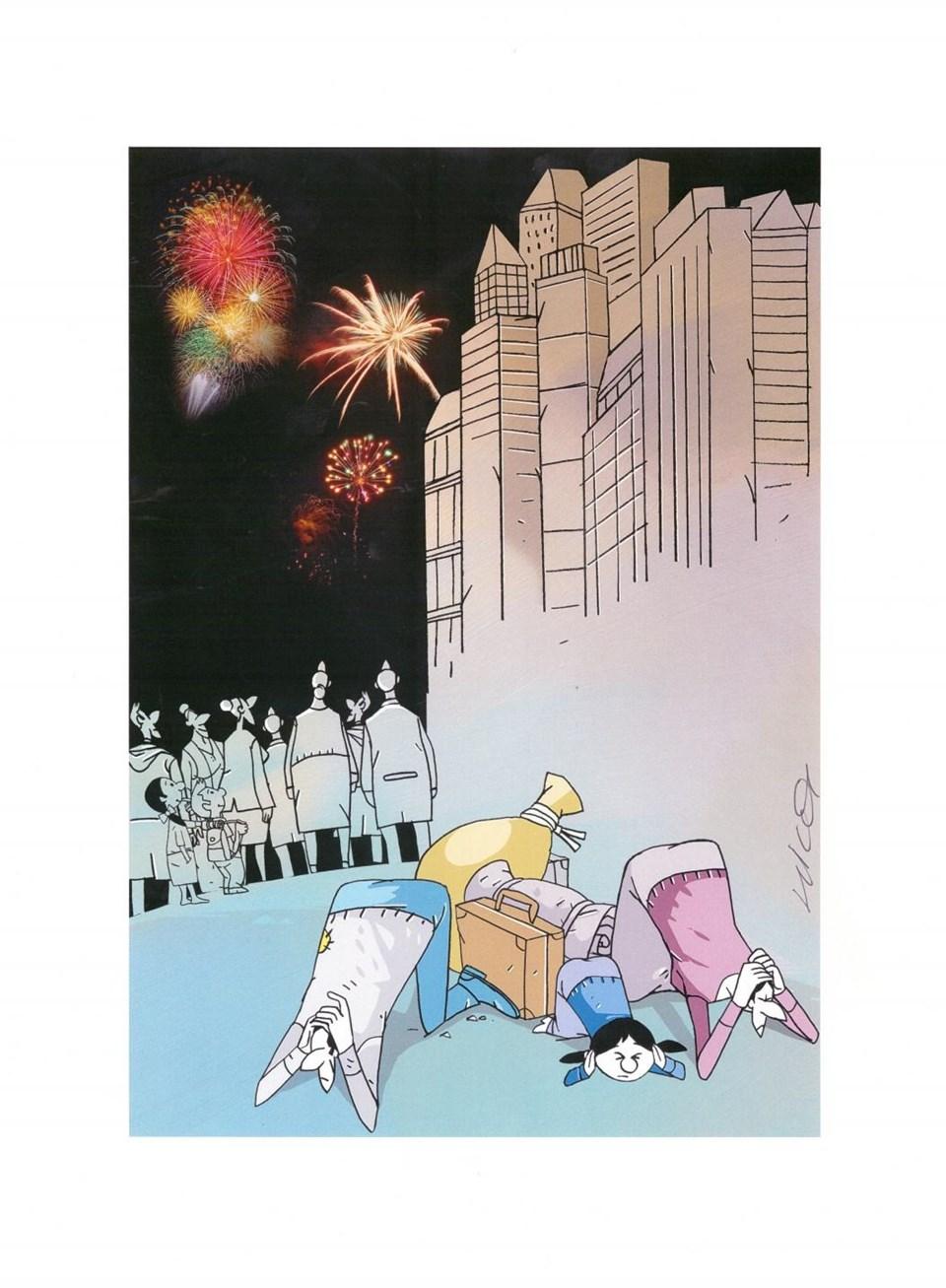 Hicabi Demirci bu karikatürüyle başarı ödülünün sahibi oldu.