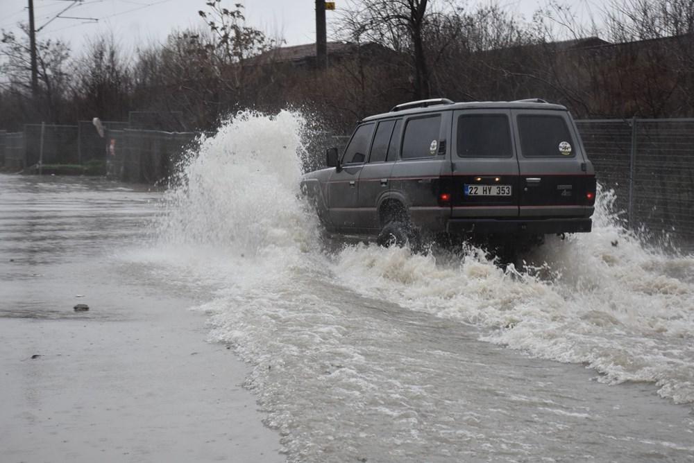 Edirne'de sağanak: Cadde ve sokaklar göle döndü - 5
