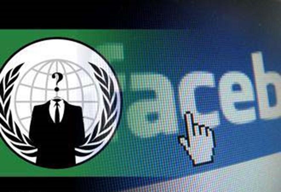 Anonymous, bir dönem Facebook'a yönelik saldırı tehdidiyle gündeme gelmişti.