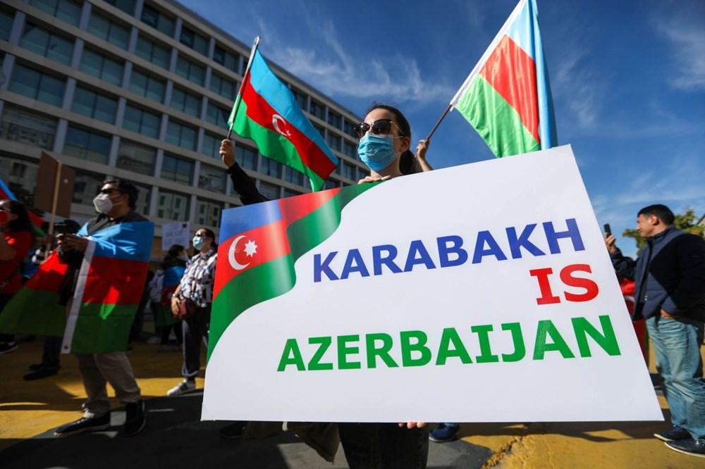 Beyaz Saray önünde Azerbaycan'a destek mitingi düzenlendi - 9