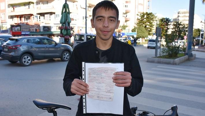Bisikletle kırmızı ışıkta geçmeye 420 lira ceza (Daha önce başıma bir şey gelmedi diye itiraz etti)