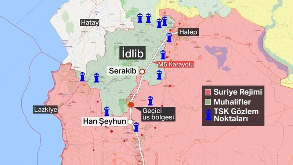 TSK'nın İdlib'deki gözlem noktaları