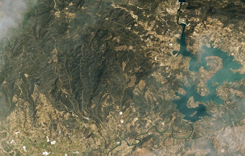 Göktürk uyduları, Manavgat ve Marmaris'teki orman yangınlarını uzaydan görüntüledi - 4