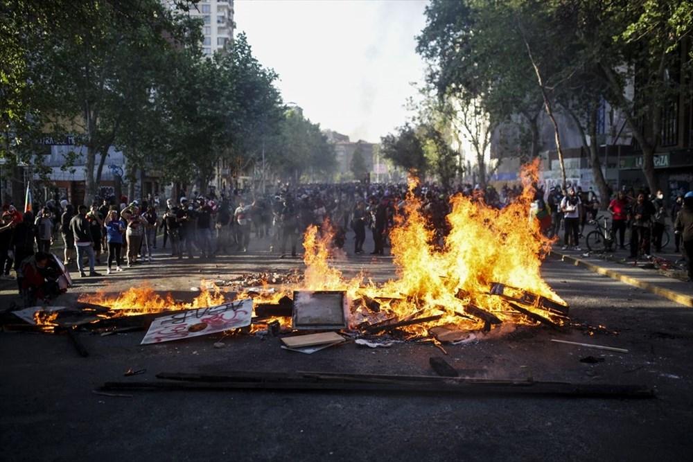 Şili'deki protestoların yıldönümü yaklaşırken sokaklarda tansiyon artıyor - 7