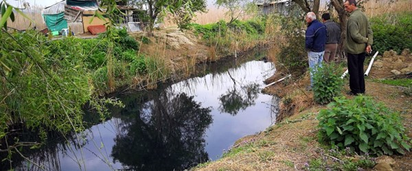 İznik Gölü'ne akan dere siyaha döndü