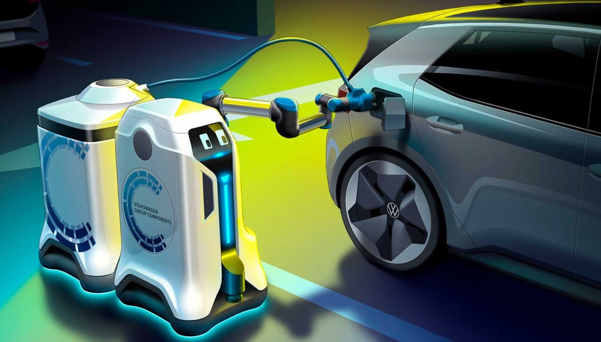 İşte Volkswagen'in elektrikli araç şarj robotu