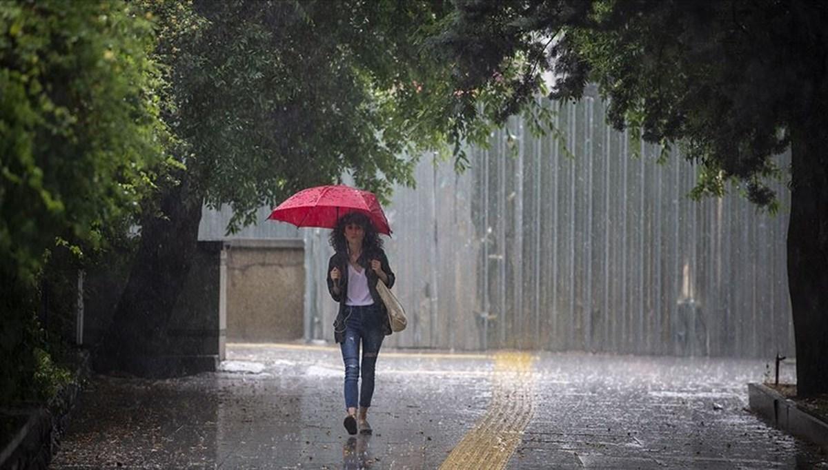 Meteoroloji'den sağanak yağış uyarısı (7 Temmuz 2021 bugün hava nasıl olacak?)