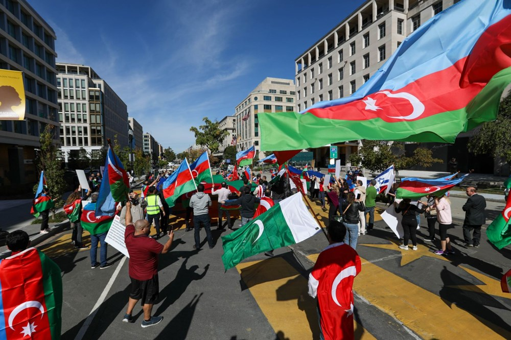 Beyaz Saray önünde Azerbaycan'a destek mitingi düzenlendi - 6