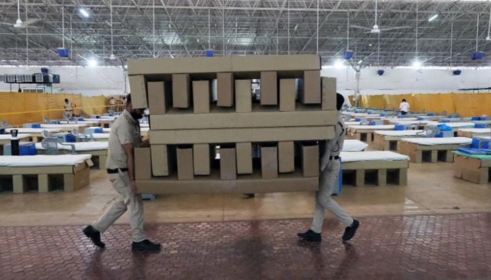 Hindistan'da Covid-19 vakalarının sayısı 20 milyona ulaştı: Halk, cenazelerini karton tabutlarla taşıyor - 4