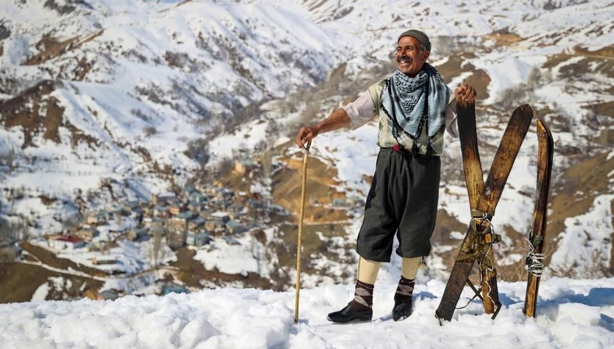 Hakkari usulü kayak! Çevre köylere de ilham kaynağı oldular