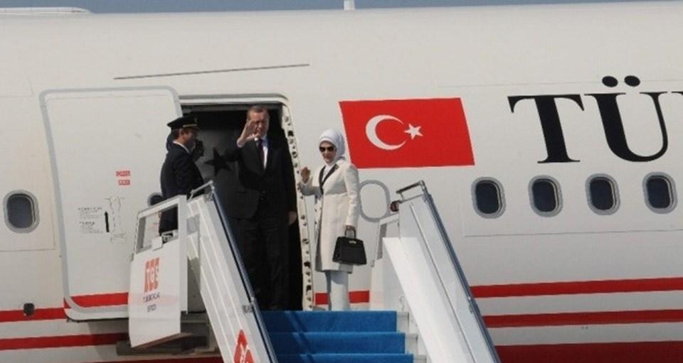Cumhurbaşkanı Erdoğan,saat 10.00'da özel uçakla Rusya'nın St. Petersburg kentine gitti.