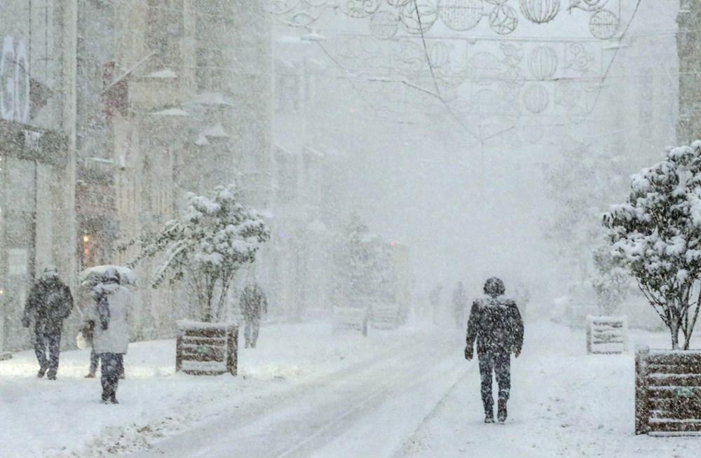 İstanbul'da kar yağışı yeniden etkisini artırdı - 8