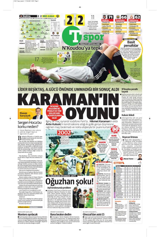 Günün spor manşetleri (17 Nisan 2021) - 23