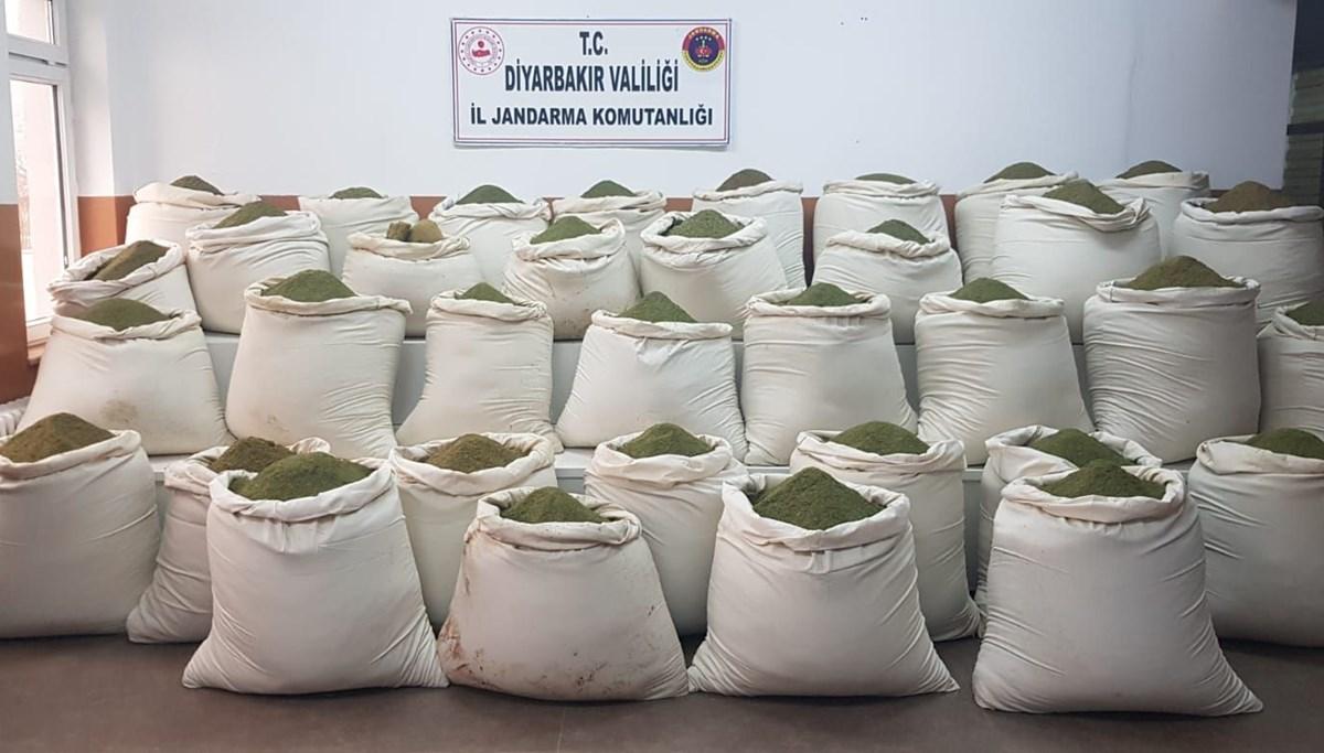 Diyarbakır Lice'de Kıran-11 operasyonu; 2 ton uyuşturucu ele geçirildi