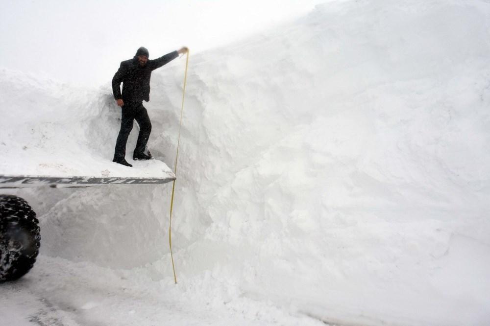 'Kar kaplanları'nın 5 metre karla mücadelesi - 6