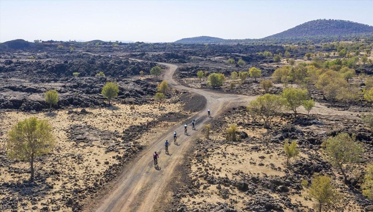 Salgın sürecinde doğa ve bisiklet tutkunları için izole rota oldu: Karacadağ Lav Yolu