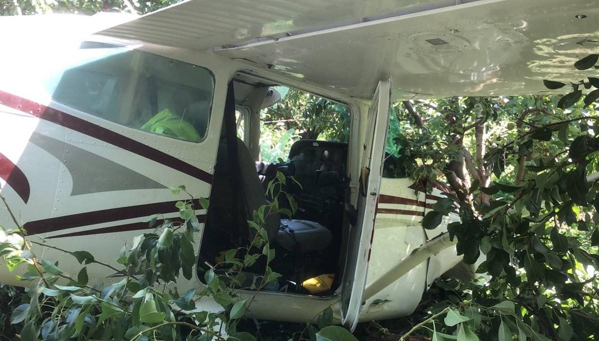 SON DAKİKA HABERİ: Bursa'da eğitim uçağı bahçeye indi