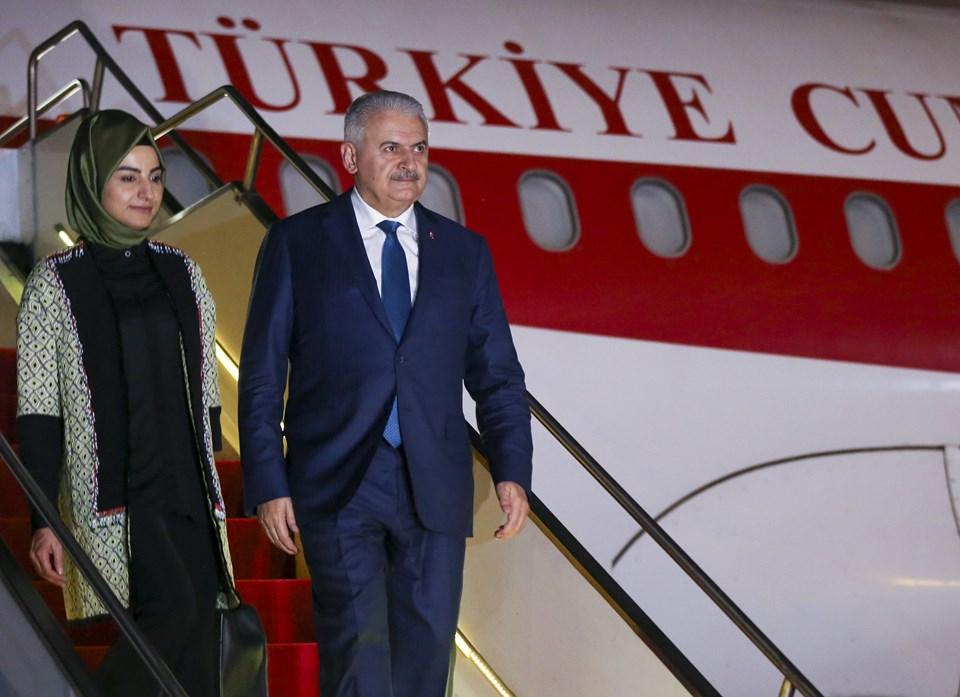 Başbakan Yıldırım'a kızı Büşra Köylübay da (solda) eşlik etti.