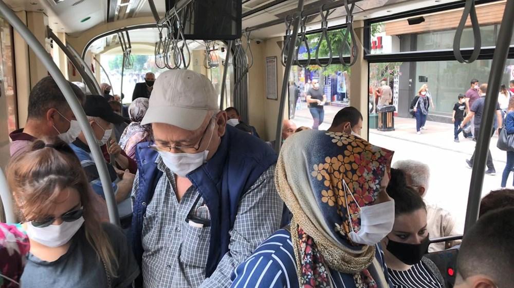 Sosyal mesafeye uymayan yolculara kızıp hareket etmedi - 10