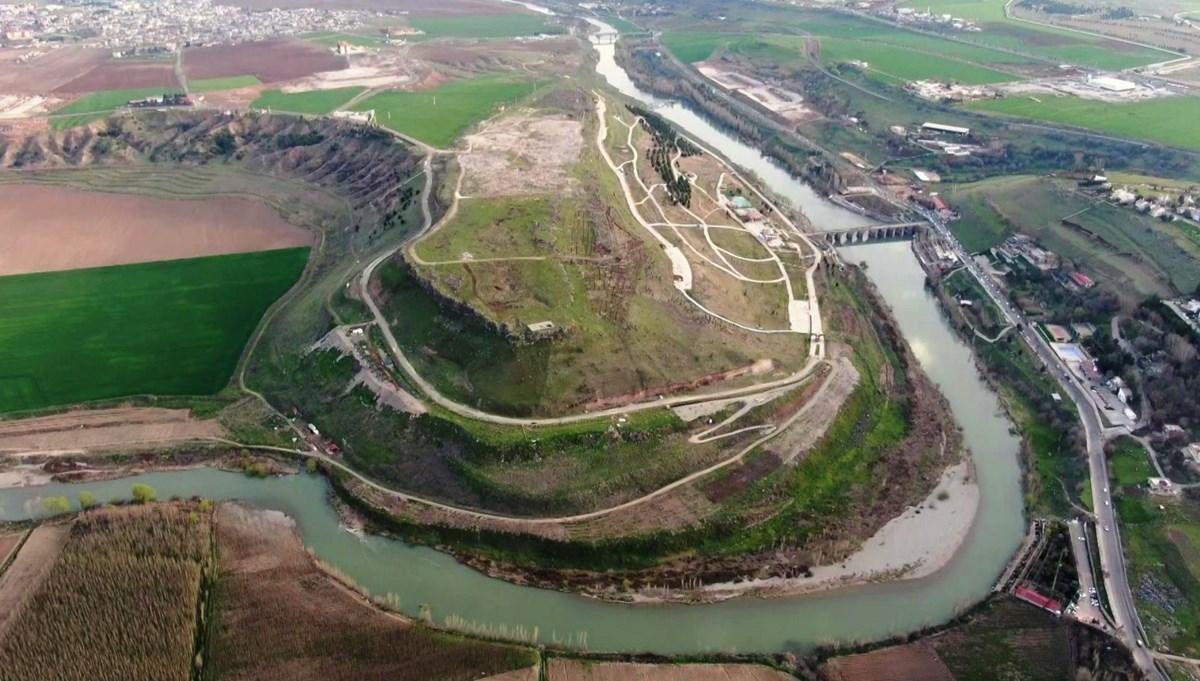 Diyarbakır'ın UNESCO listesindeki simgeleri havadan görüntülendi