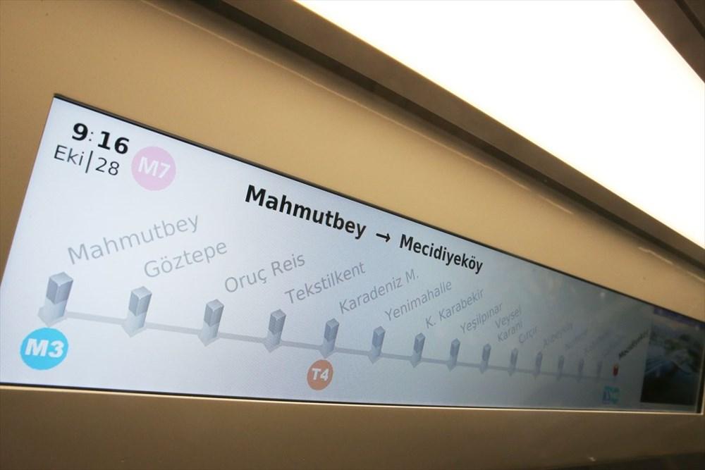 Mecidiyeköy-Mahmutbey Metrosunda seferler başladı - 9