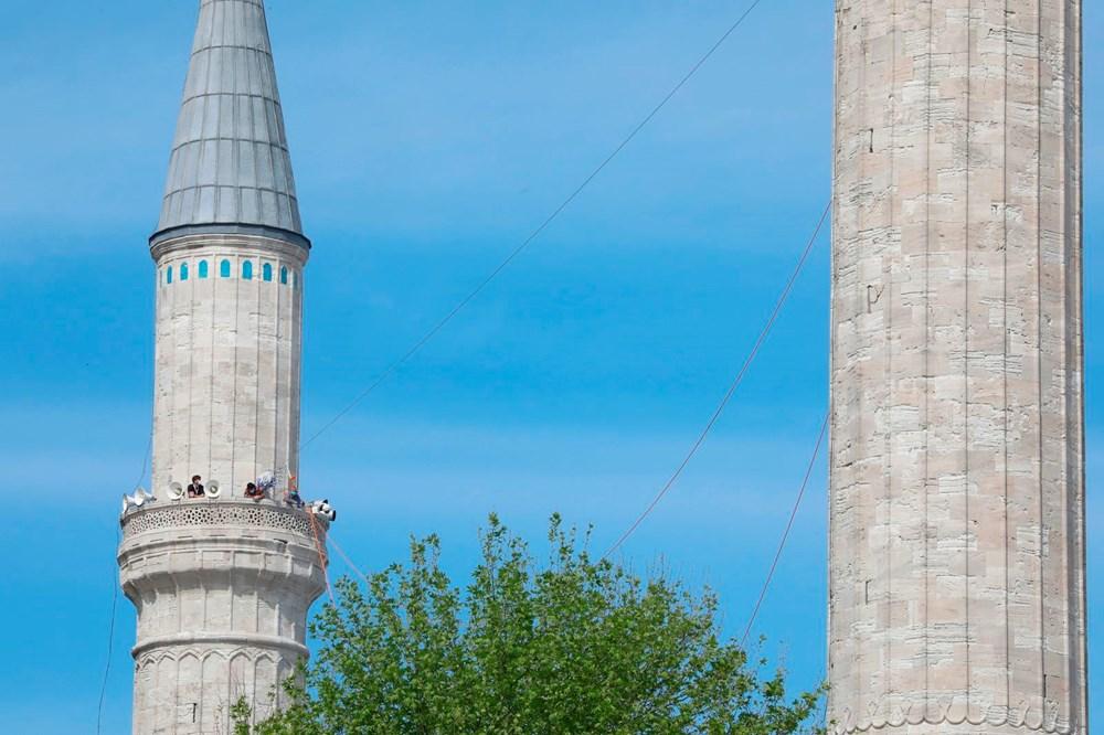 Ayasofya Camii'ne 87 yıl sonra ilk mahya asıldı - 4