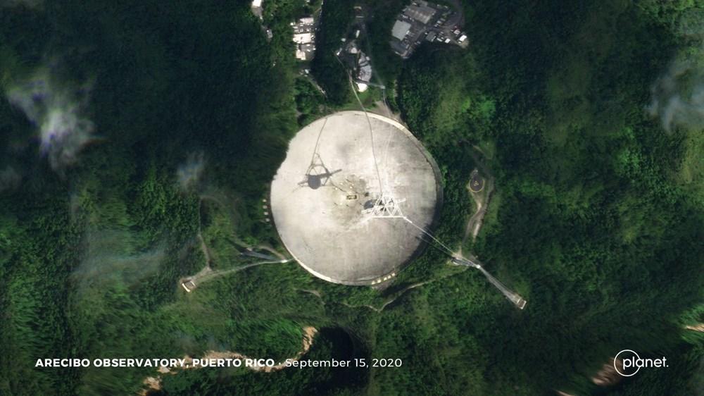 Porto Riko'daki Arecibo Gözlemevi çöktü - 5