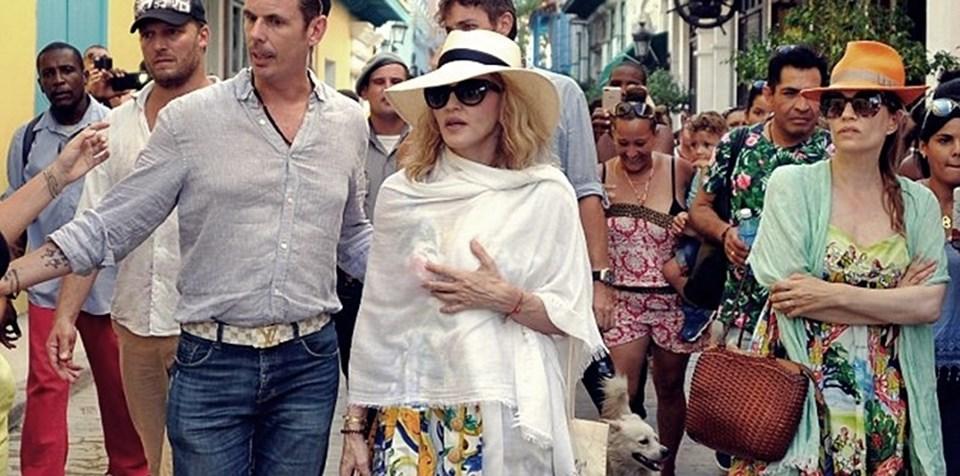 ABD'li Madonna, 58. doğum gününü Küba'nın başkenti Havana'da kutladı.