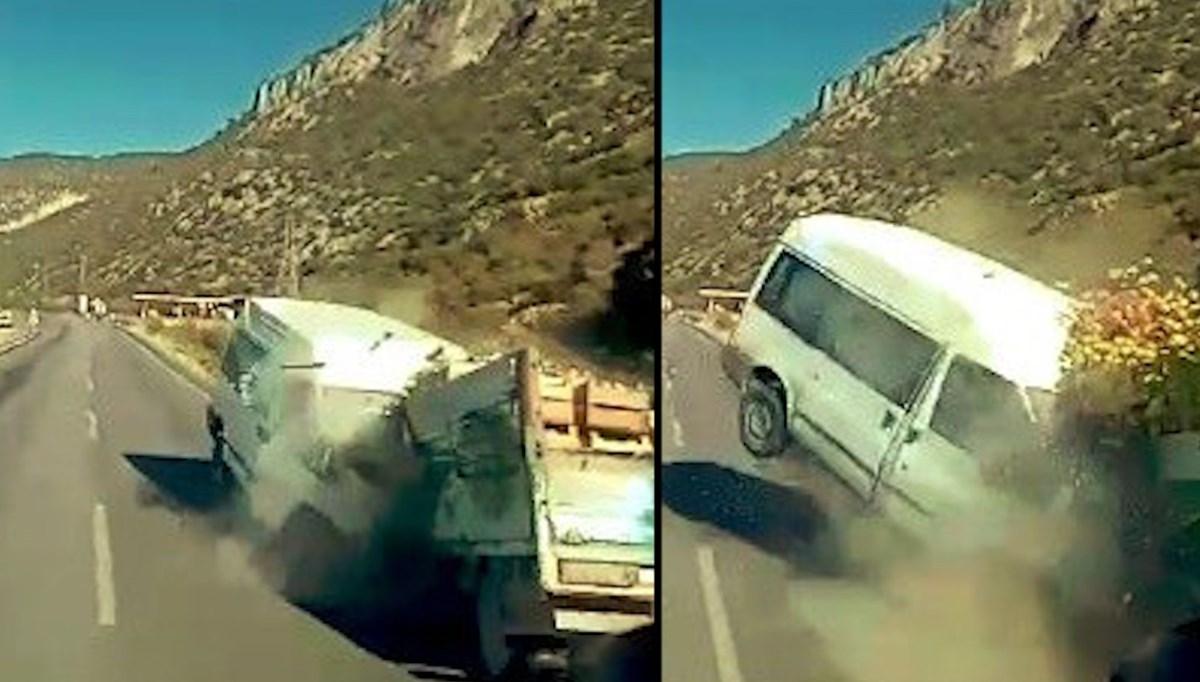 Uyuyan sürücü kazaya neden oldu